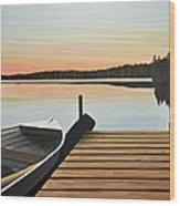Haliburton Dock Wood Print