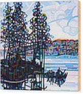 Haliburton Morning Wood Print