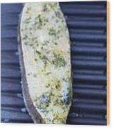 Halibut Fillet On Bbq Wood Print