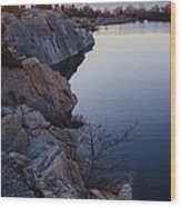 Halibut Point In Rockport Wood Print