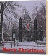 Halifax Christmas Wood Print