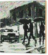 Halifax In The Rain One Wood Print