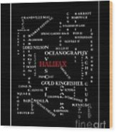 Halifax Nova Scotia Crosswords Red Wood Print
