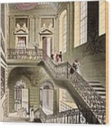Hall And Staircase At The British Wood Print