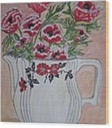 Hall China Red Poppy And Poppies Wood Print