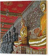 Hall Of Buddhas At Wat Suthat In Bangkok-thailand Wood Print