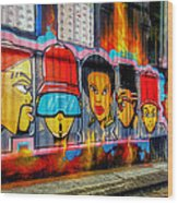 Hall Of Fame At Hosier Lane	 Wood Print