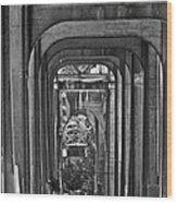 Hall Of Giants - Beneath The Aurora Bridge Wood Print