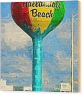Hallandale Beach Water Tower Wood Print