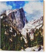 Hallett Peak In Spring Wood Print