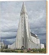 Hallgrimskirkja Iceland Wood Print