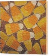 Halloween Candy Corn Wood Print