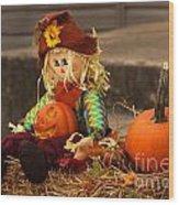 Halloween Doll Wood Print