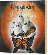 Halloween Ghost Cupcake 1 Wood Print