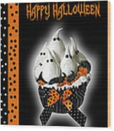 Halloween Ghost Cupcake 3 Wood Print