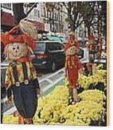 Halloween In N Y C Streets  Wood Print