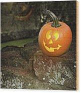 Halloween Jack O Lanterns Wood Print