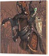 Halloween Knight Wood Print by Daniel Eskridge