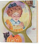 Hallowe'en Magic - Lighting Wood Print