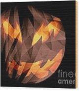 Halloween Moon Wood Print