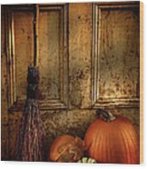 Halloween Night Wood Print by Sandra Cunningham