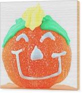 Halloween Pimpkin Sweet Wood Print