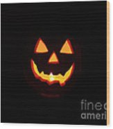 Halloween Pumpkin Wood Print
