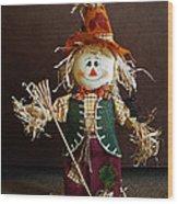 Halloween Scarecrow Wood Print
