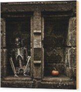 Halloween Skeleton Wood Print