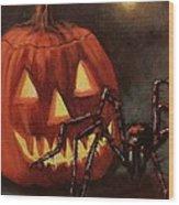 Halloween Spider Wood Print
