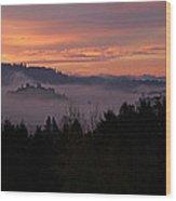 Halloween Sunrise Wood Print