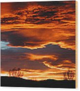 Halloween Sunset Wood Print