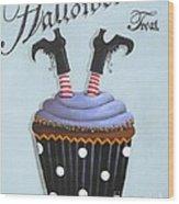 Halloween Treat Witch Cupcake Wood Print