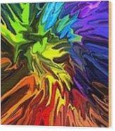 Hallucination Wood Print by Chris Butler