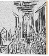 Hallway Of Distortion Wood Print