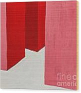 Hallway Red Wood Print