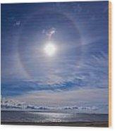 Halo Over  The Sea Wood Print