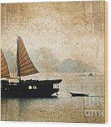 Halong Bay Vintage Wood Print