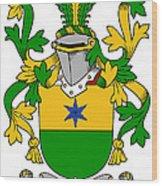 Haly Coat Of Arms Irish Wood Print
