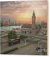 Hamburg Harbor Wood Print