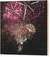 10715 Hamburg Winter Dom Fireworks Wood Print