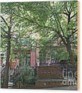 Hamilton Heights Green Wood Print