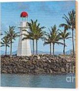Hamilton Island Lighthouse Wood Print by Shannon Rogers