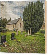 Hamlet Church Wood Print
