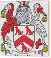 Hamlin Coat Of Arms Irish Wood Print