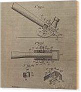 Hammer Patent Drawing Wood Print