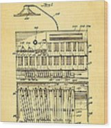 Hammond Organ Patent Art 1934 Wood Print