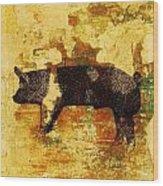Swedish Hampshire Boar 4 Wood Print