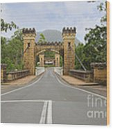 Hampden Bridge Kangaroo Valley Wood Print