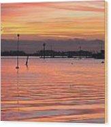 Hampshire Sunset Wood Print